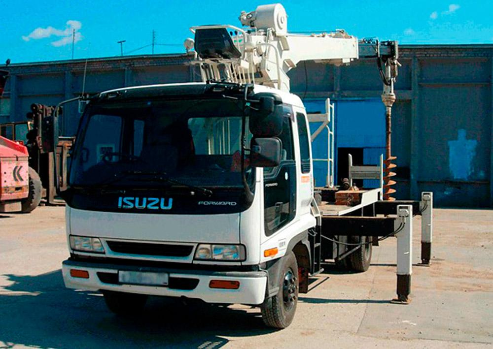 Аренда ямобура ISUZU Forward D502 Москве